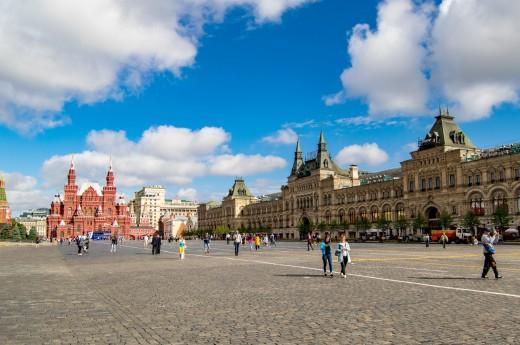 Červené náměstí v Moskvě