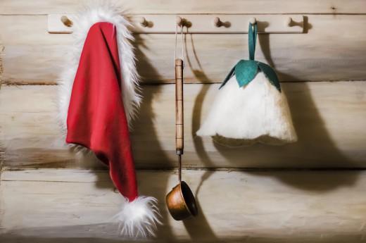 Vánoční finská sauna