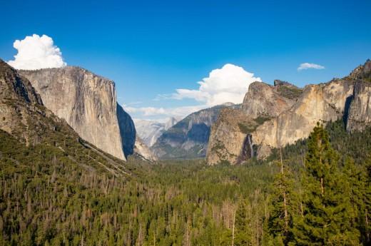 Horsetail Fall v Yosemitském parku