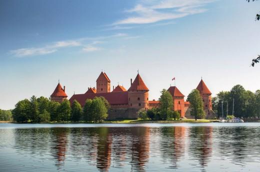 Hrad Trakai v Litvě.