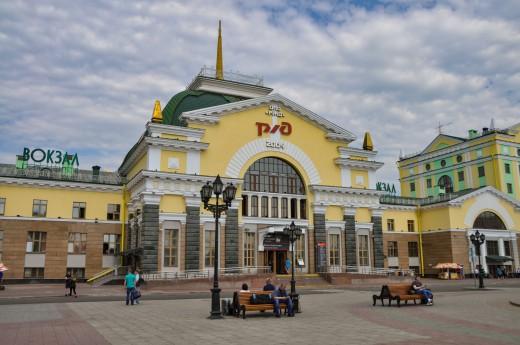 Vlaková stanice v Krasnojarsku
