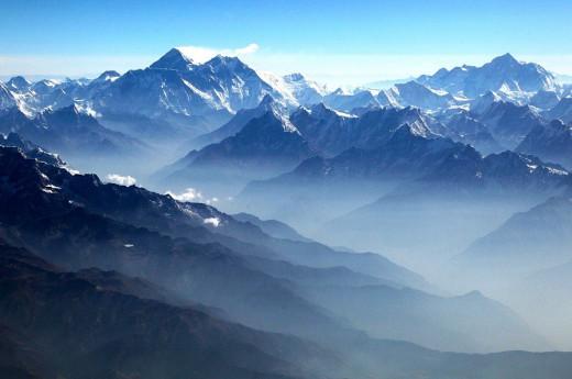Mount Everest z letadla