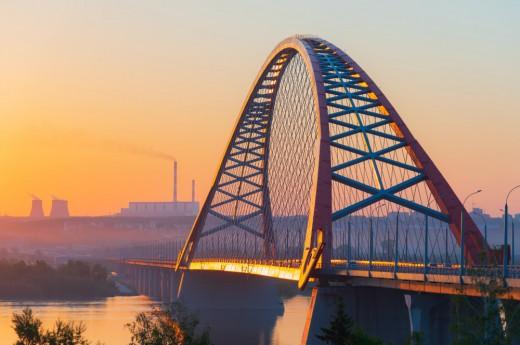 Most Bugrinsky v Novosibirsku