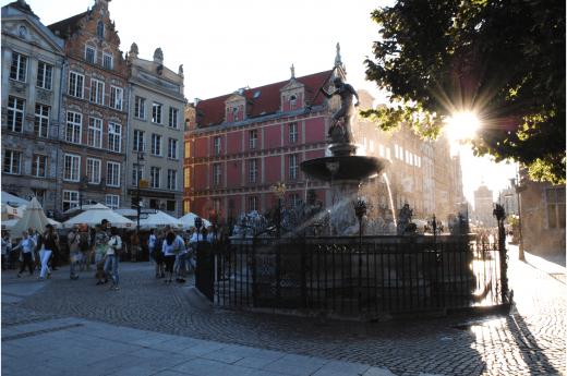 Socha mořské panny Syreny ve Varšavě