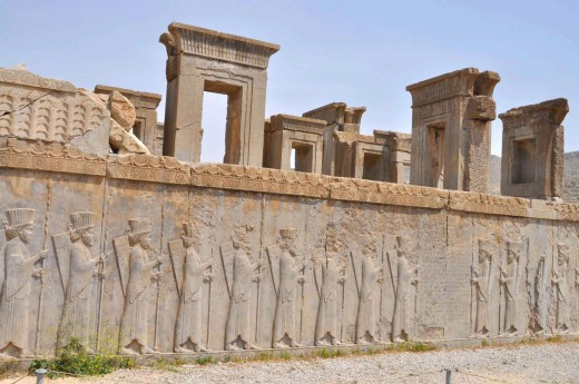 Ruiny paláců v Persepolisu