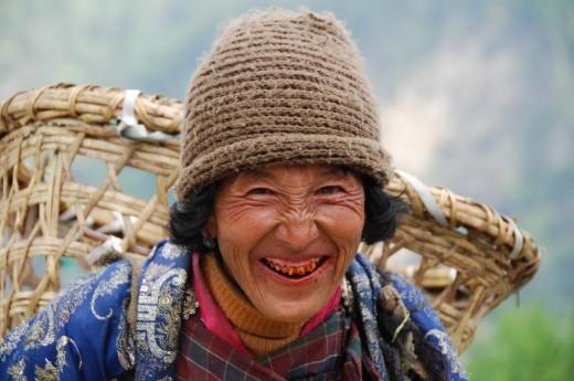 lidé v Bhútánu