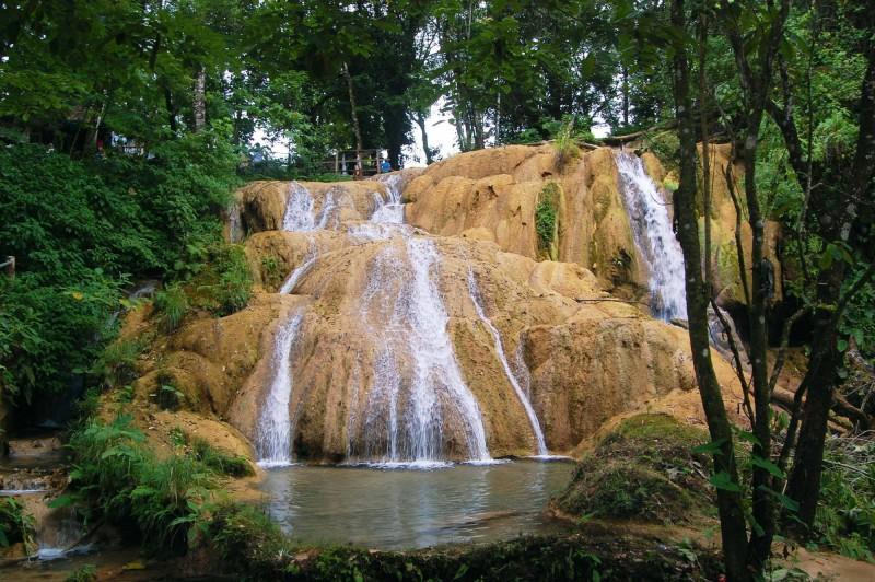Vodopády Agua Azul.