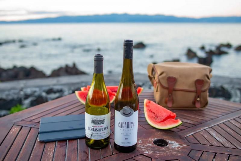 Víno z ostrova Pico.
