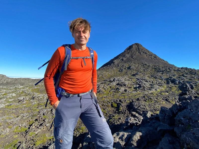 Pod vrcholem sopky Pico.