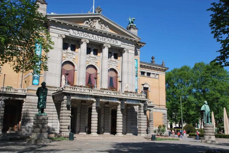 Národní divadlo v Oslu.