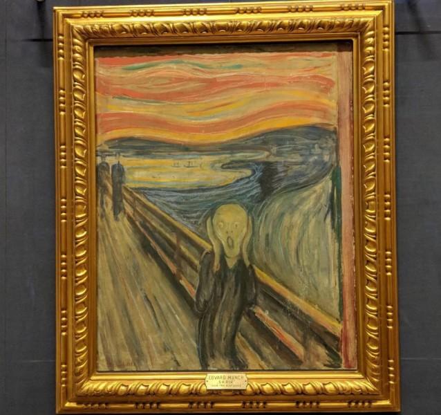 Munchův obraz nazvaný Výkřik.