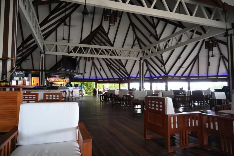 Hotelový bar Hulhangu.