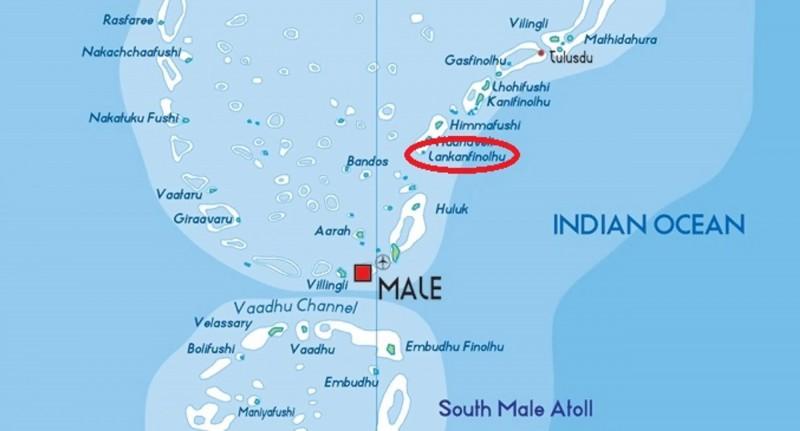 Paradise Island leží severně od Malé.