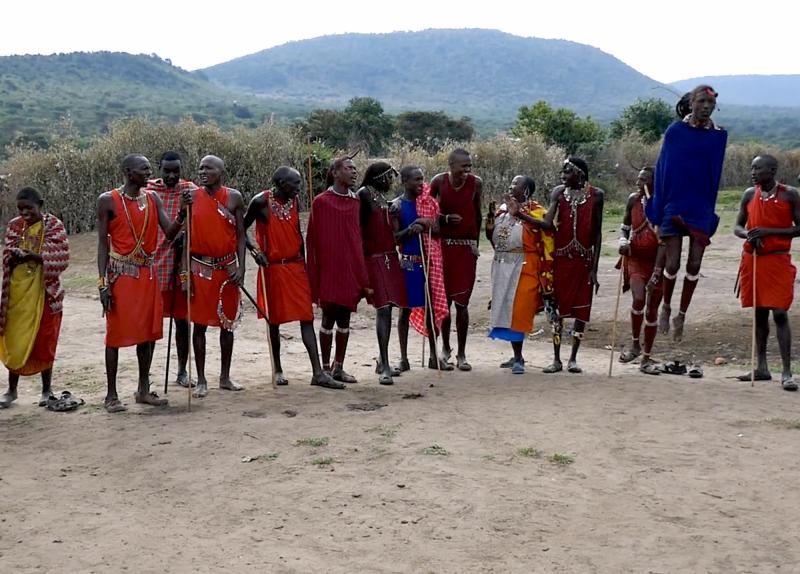 Tradiční tanec Masajů.