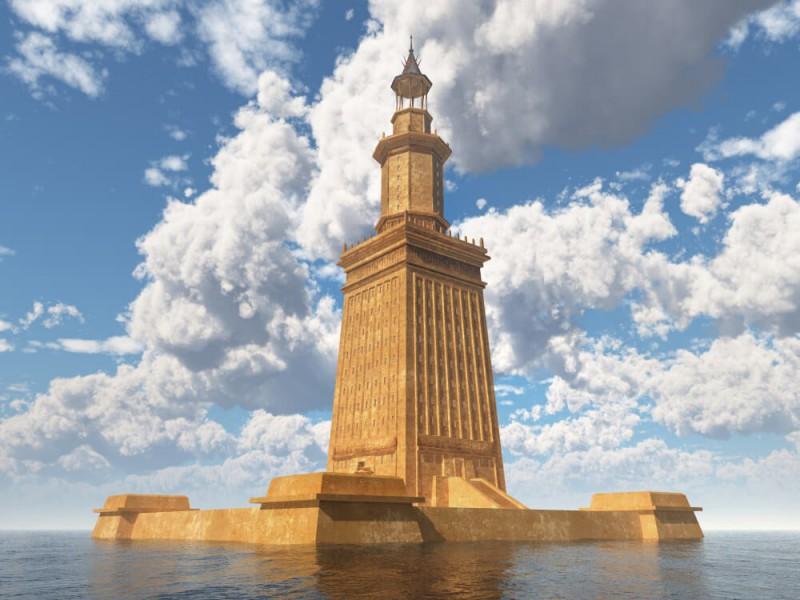 Ilustrace Alexandrijský maják