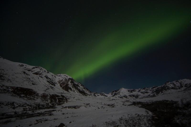Polární záře na Aljašce