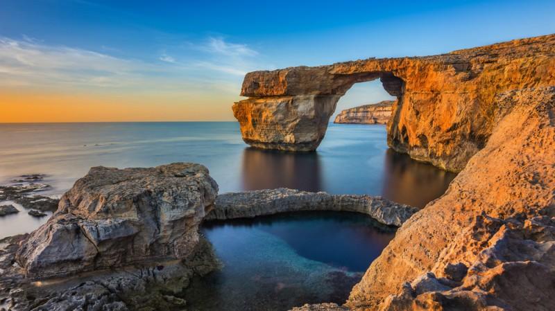 Azurové okno na Maltě