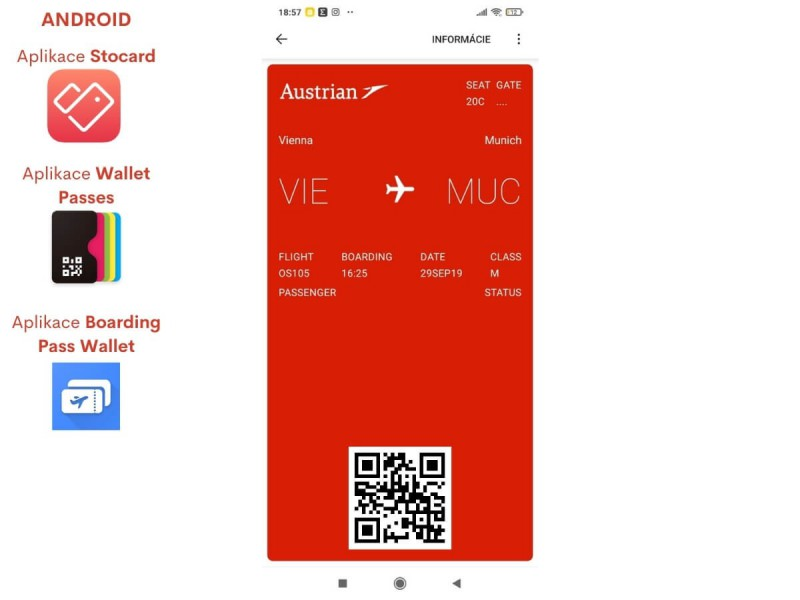 Boarding pass Android.