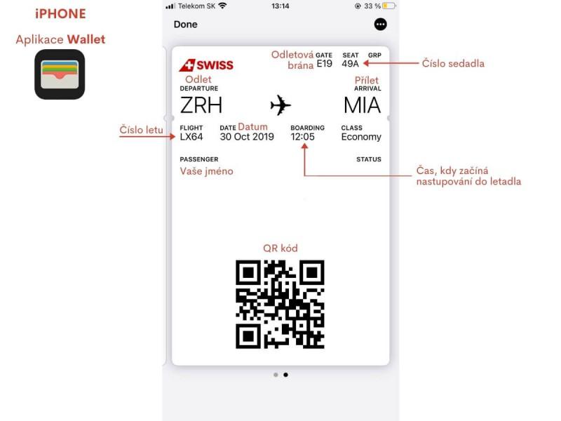 Boarding pass iPhone.