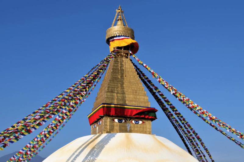 Buddhovy oči na Boudhanath