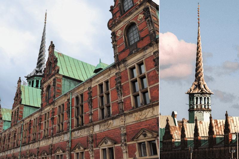 Budova burzy v Kodani.