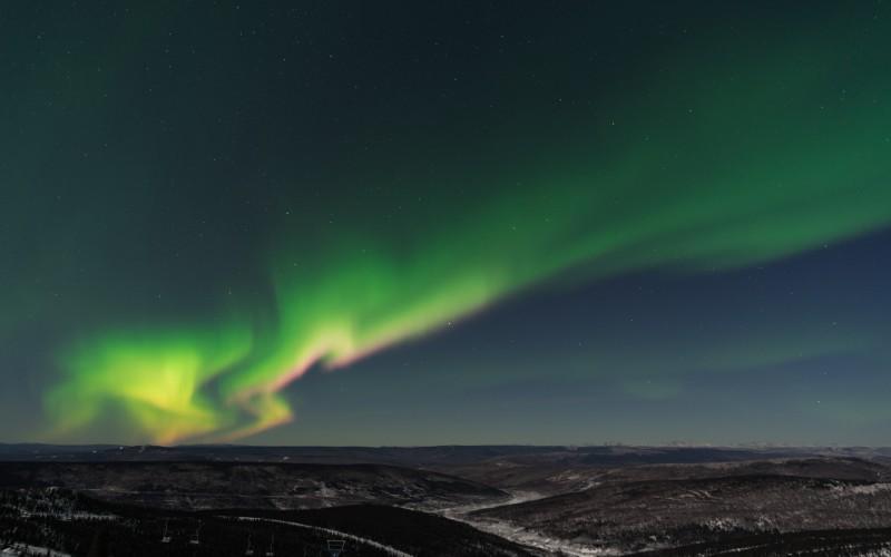 Cleary Summit rozhledna na polárni záři, Fairbanks, USA