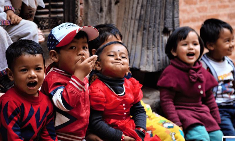 Děti v Himalájích