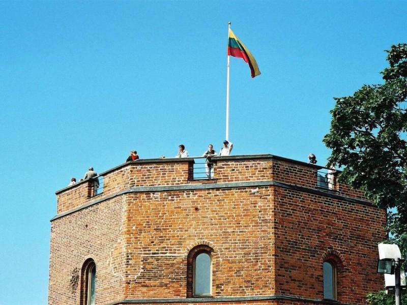 Nejstarší Gediminasův hrad ve městě Vilnius.