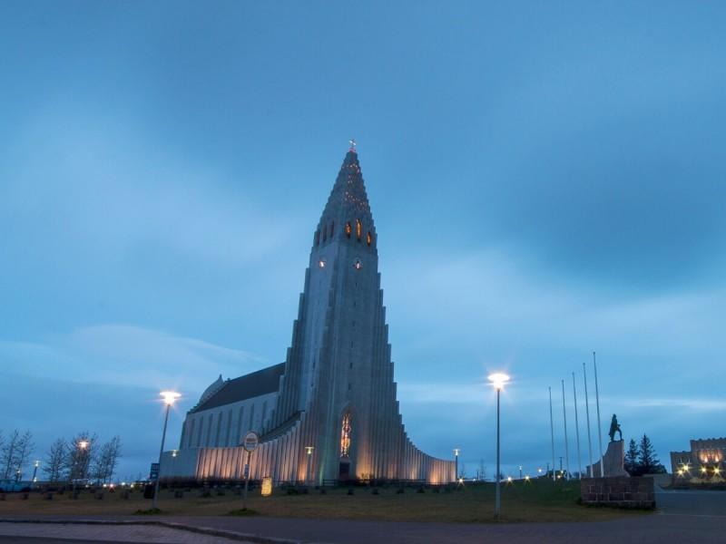 Kostel Hallgrímskirkja.
