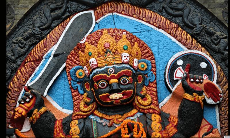 Hinduistické symboly v Nepálu