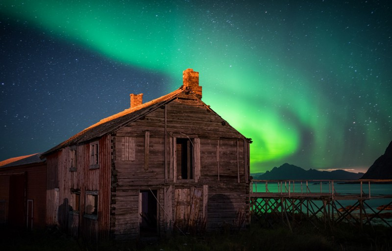 Polárni záře v Hovden, Norsko