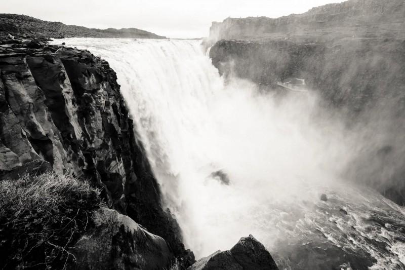 Divoká voda Propadajícího se vodopádu.