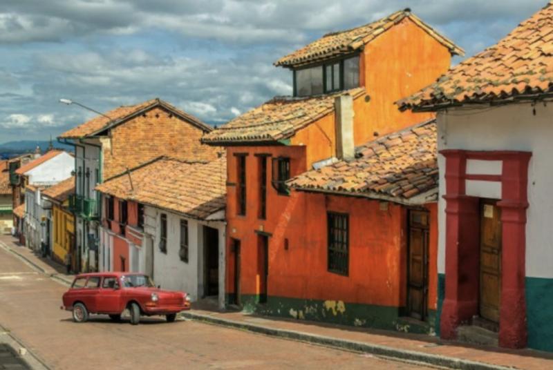 Typická ulice v Kolumbii
