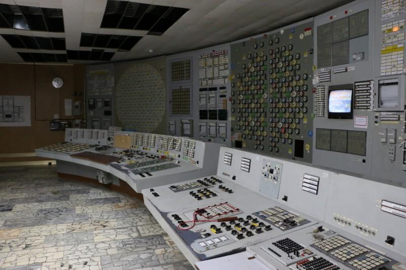 Kontrolní centrum třetího reaktoru v Černobylu