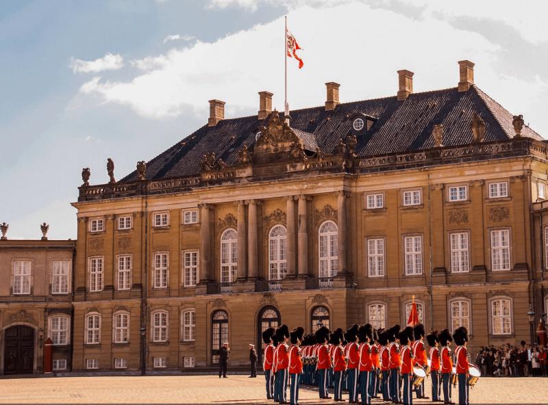 Královský palác Amalienborg.