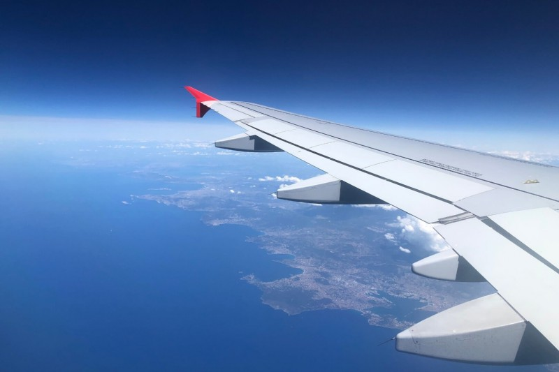 Výhled z letadla.