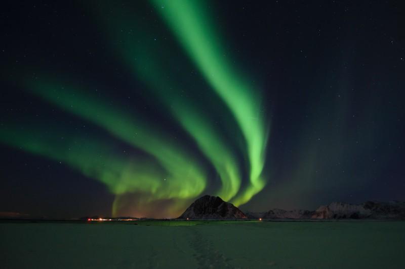 Polární záře na Lofotách, Norsko