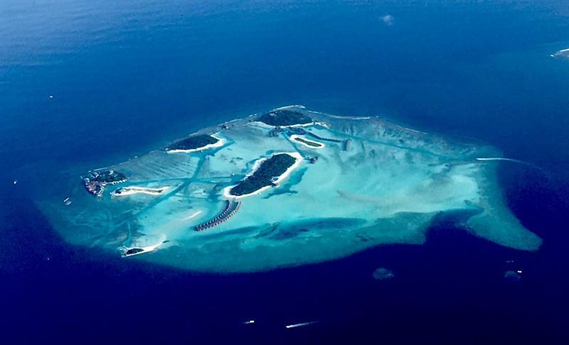 Maledivy z letadla