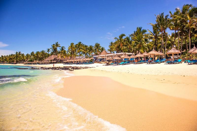 Krásné pláže ostrova Mauricius.