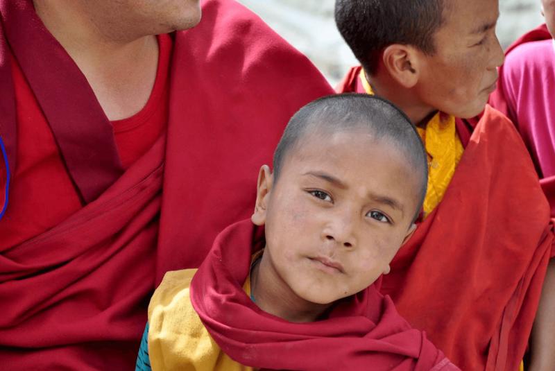 Mladý mnich v Ladakhu