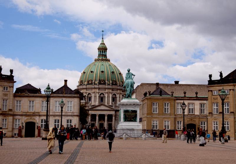 Mramorový kostel v blízkosti královského paláce v Kodani.
