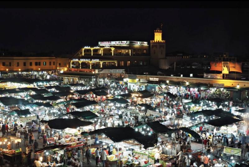 Náměstí Jama al-Fnaa v Marakeši