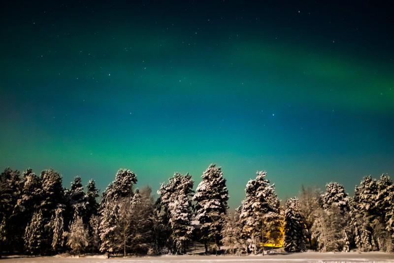 Polární záře v Nellim, Finsko
