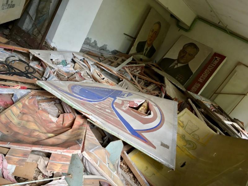 Zničené obrazy v Pripjati