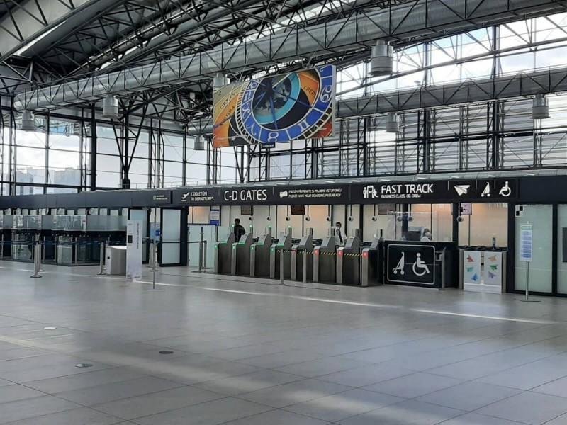 Pasová kontrola v terminálu 2 v Praze.