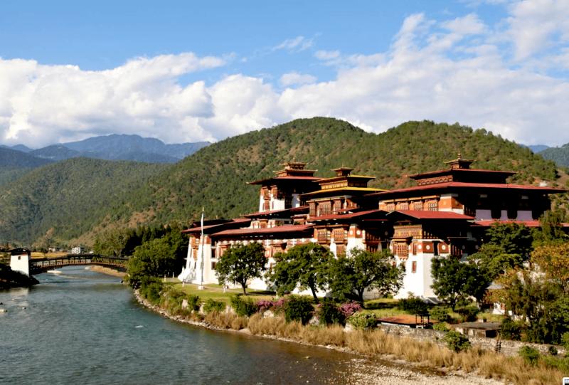 Pevnost Punákha v Bhútanu