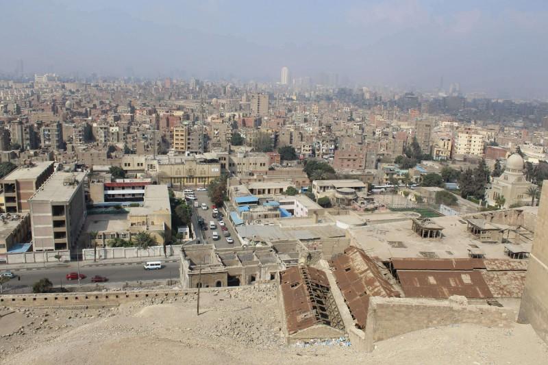 Pohled na Káhiru