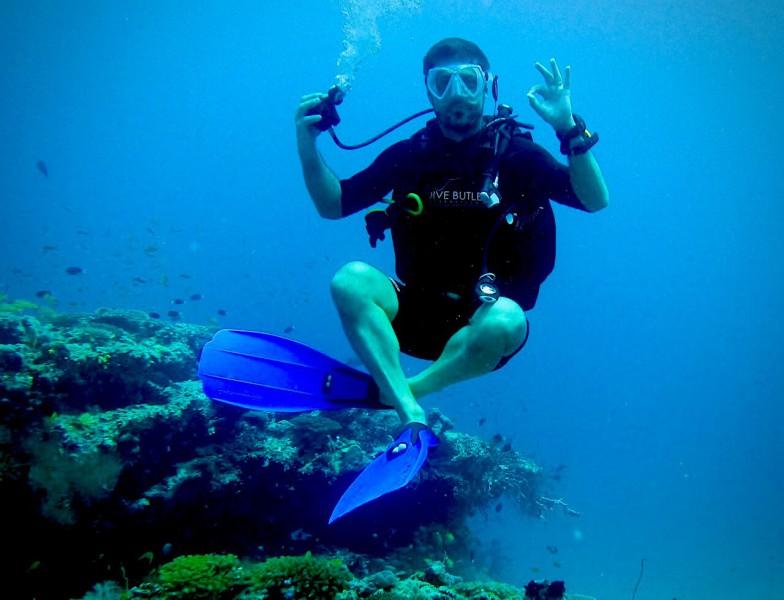 Potápění v hloubce 30 metrů