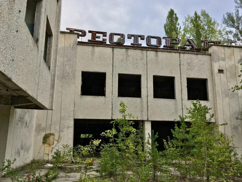 Opuštěná restaurace v Pripjati