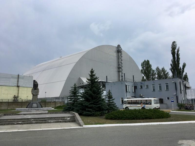 Sarkofág Černobylské jaderné elektrárny